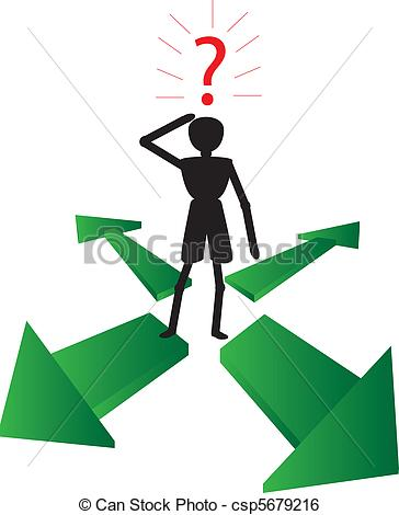 Clip Art Vector Of Man Asking Why   The Green Way To Solution