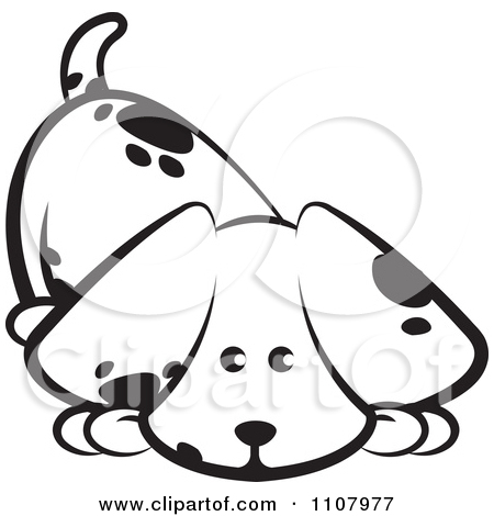 Cute Dog Clipart Black And White 1107977 Cute Black And White Puppy