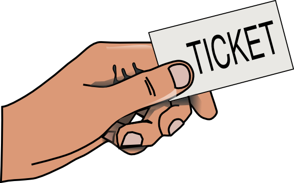 Hand Holding Ticket Clip Art