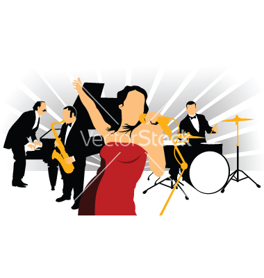 Jazz Singer Clip Art Images   Pictures   Becuo