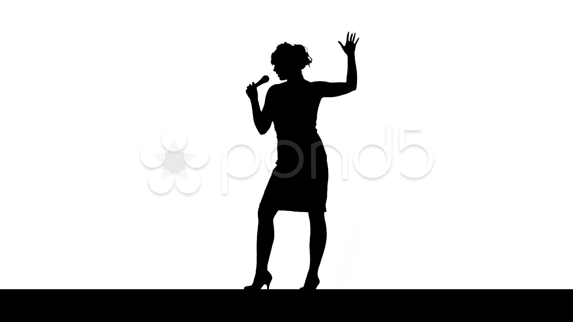Jazz Singer Silhouette Clipart   Free Clip Art Images