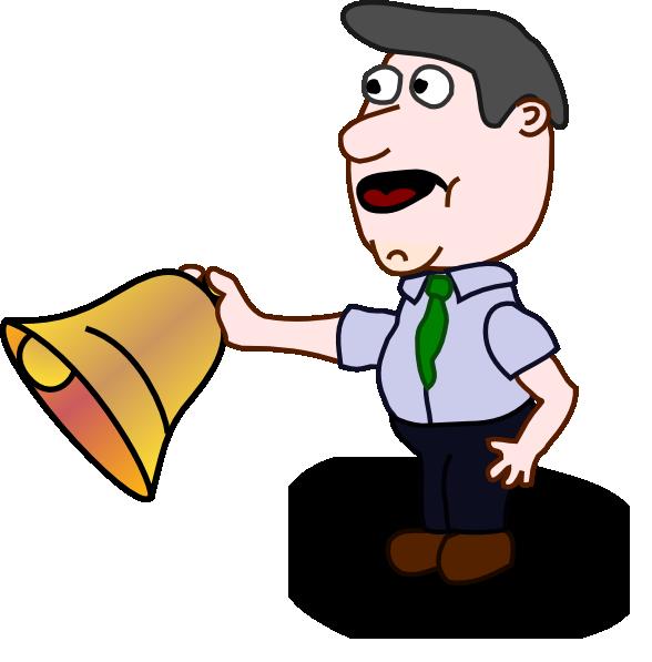 School Bell Ringing Cartoon