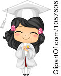 Royalty Free Vector Clip Art Illustration Of A Cute Graduate Girl