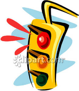 Stop Light Clipart A Traffic Light On Red Royalty Free Clipart Picture