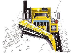 This Listing Is For Our Cartoon Snowplow Sander Big Rig Truck T Shirt