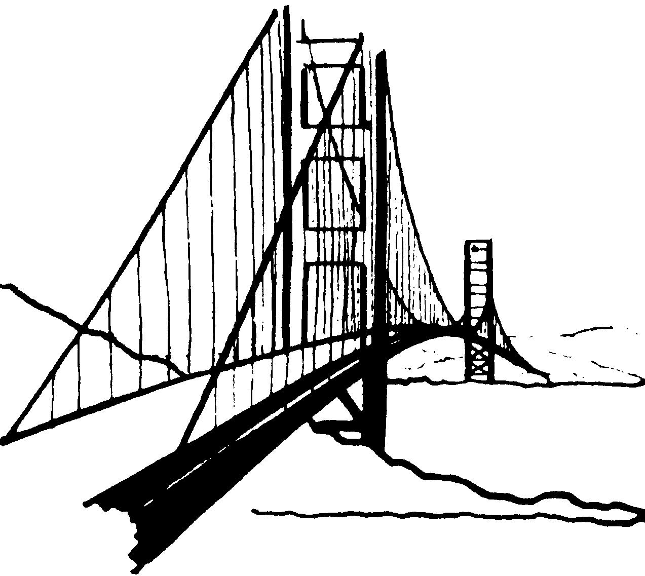 Clip Art Golden Gate Bridge Clipart golden gate bridge clipart kid viewing gallery for clip art