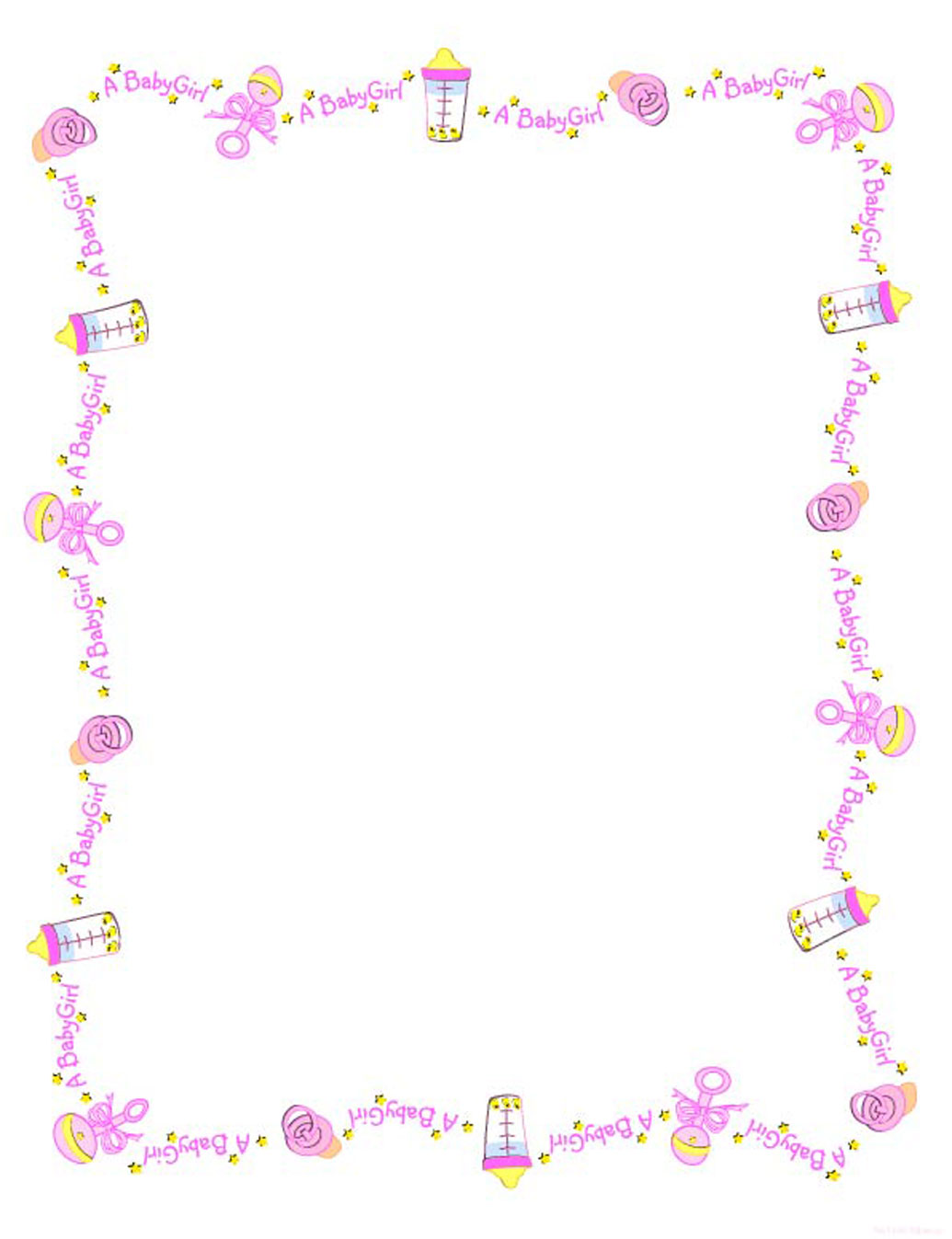 Baby Girl Shower Borders Clip Art Images & Pictures - Becuo