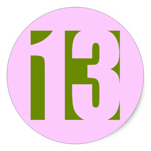 Lucky Number 13 Clip Art | www.imgkid.com - The Image Kid ...