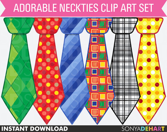 Clip Art Father S Day Neckties In Argyle Polka Dot Stripes And