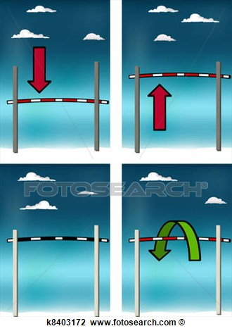 Clip Art   High Jump Bar  Fotosearch   Search Clipart Illustration