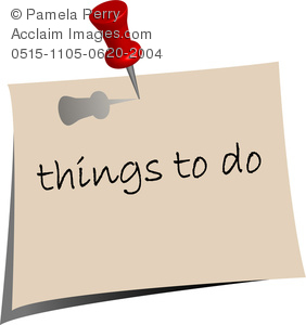 Clip Art Image Of A Post It Note That Says Things To Do   Royalty Free