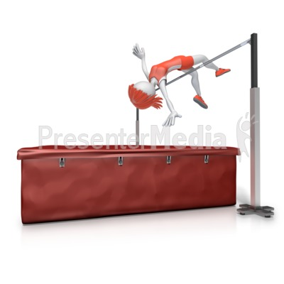 Female Clear High Jump Bar   3d Figures   Great Clipart For