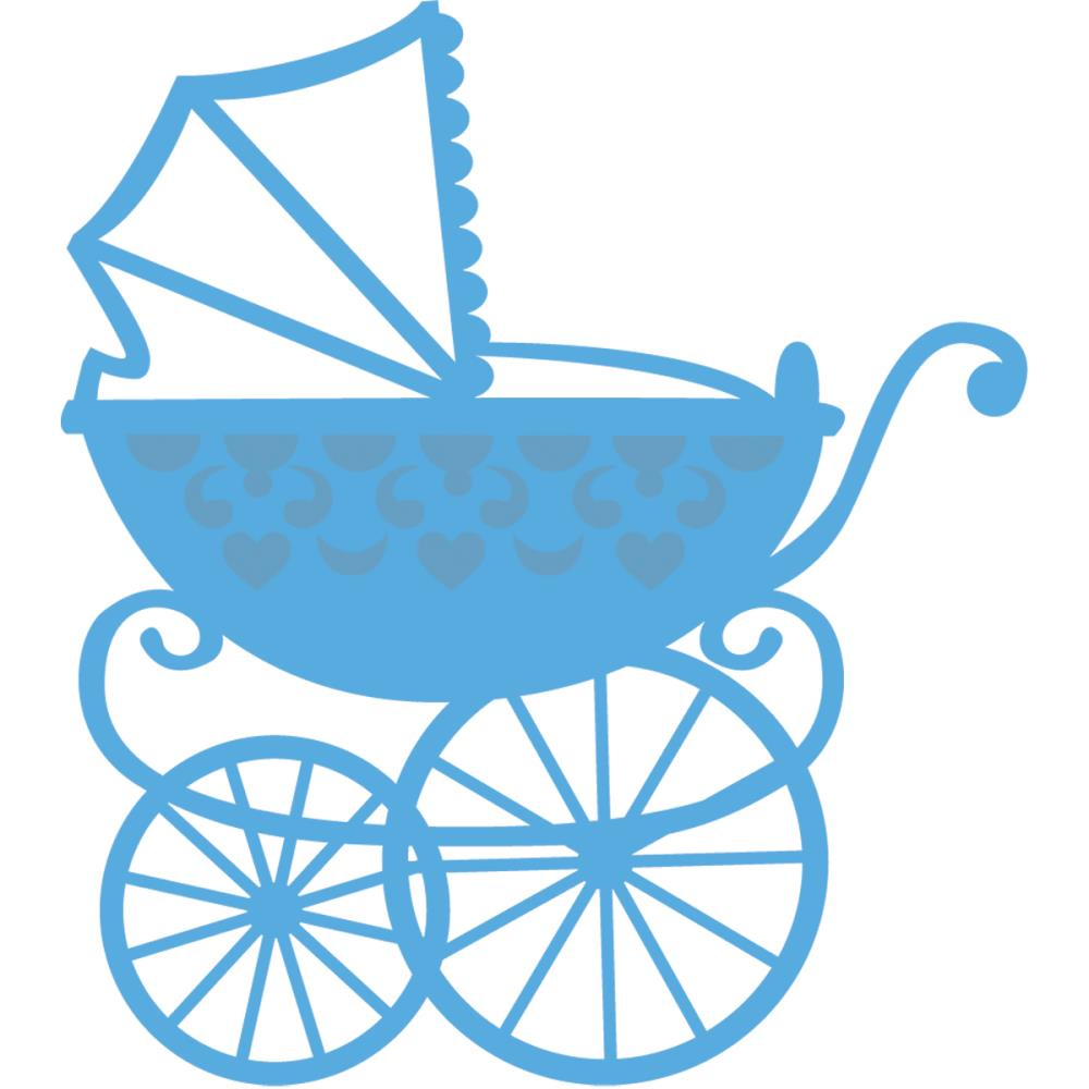 Cartoon Blue Pram Clipart - Clipart Kid