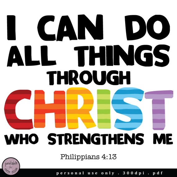 Printable I Can Do All Things Through Christ Pif By Viveradesign