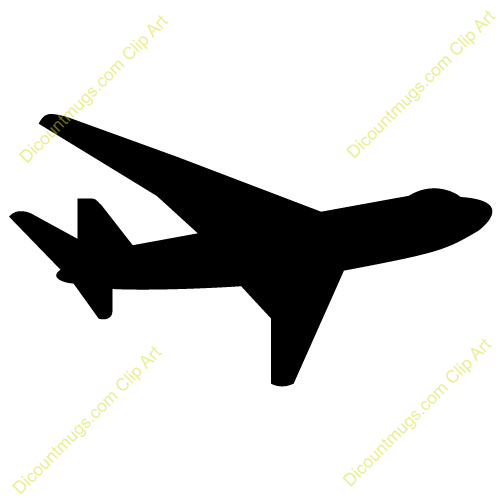 747 Commercial Airplane Silhouette Keywords 747 Passenger Jet Airplane