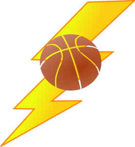 Basketball Lighting Bolt Clip Art At Clker Com   Vector Clip Art