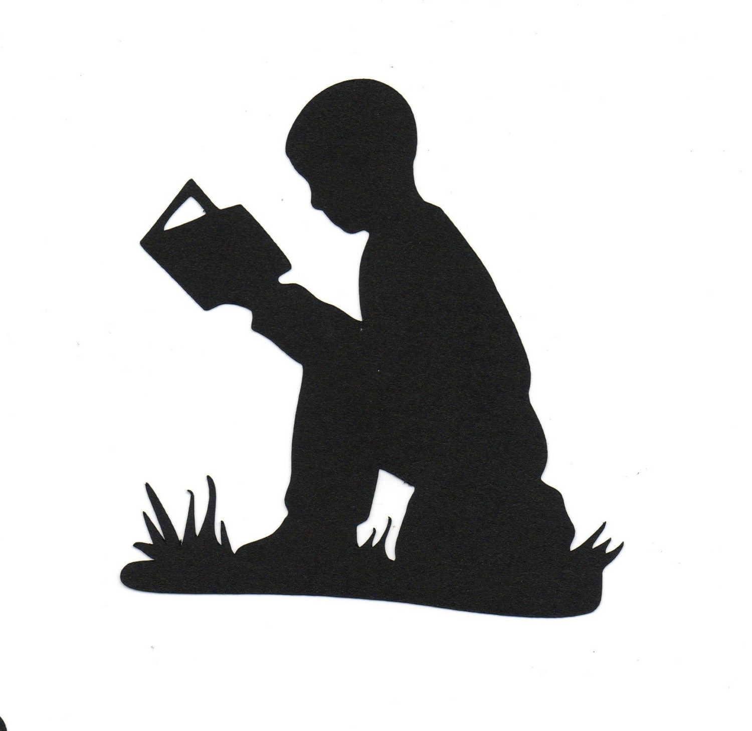 Reading Silhouette Clipart - Clipart Suggest