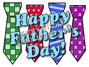 Clip Art  Happy Father S Day Ties Color 2   Preview 1
