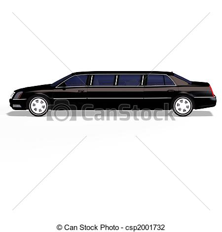 Clip Art Of Black Limo   Huge Limo With Black Windows Csp2001732