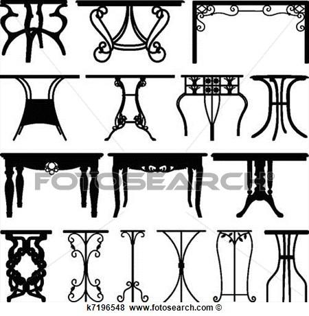 Clip Art Of Table Desk Home Furniture Design K7196548   Search Clipart