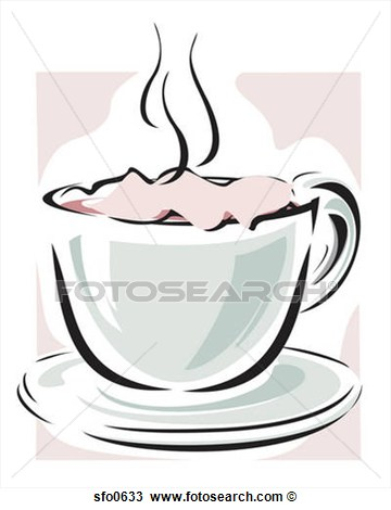 Drawing   Warm Beverage In Teacup  Fotosearch   Search Clipart