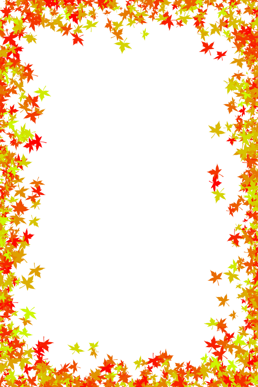 Autumn Leaf Border Clip Art