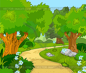 Forest Landscape   Vector Clip Art