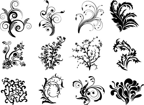 Free Vector Floral Curves   Free Vector Graphics   All Free Web