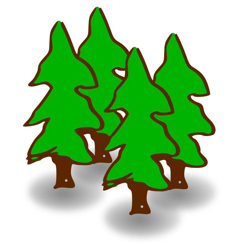 Gallery For   Forest Clip Art