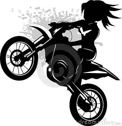 Girl On A Black Motorcycle Royalty Free Stock Photography   Image