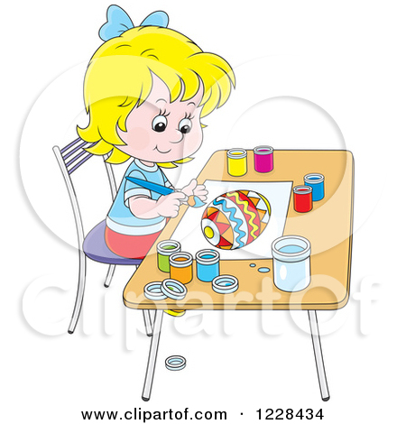 Girl Painting Clipart - Clipart Kid