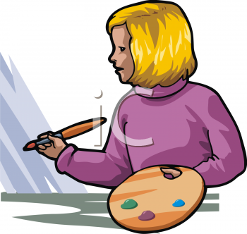 Girl Painting Clipart Find Clipart Painting Clipart Image