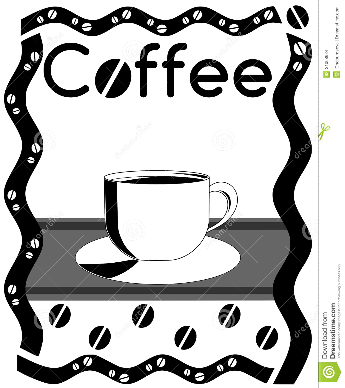 Illustration Representing A Warm Cup Of Coffee
