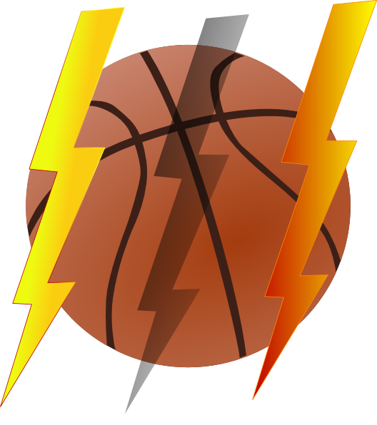 Lightning Bolt Basketball Clip Art At Clker Com   Vector Clip Art