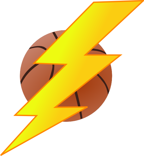 Lightning Bolt Basketball1 Clip Art At Clker Com   Vector Clip Art