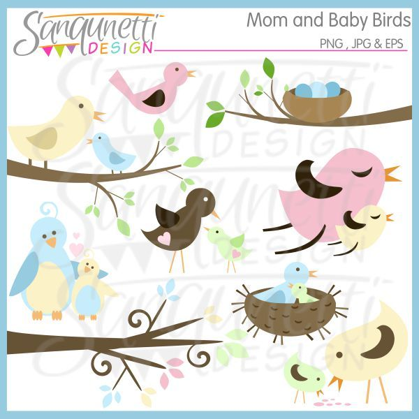 Mom And Baby Bird Clipart - Clipart Kid
