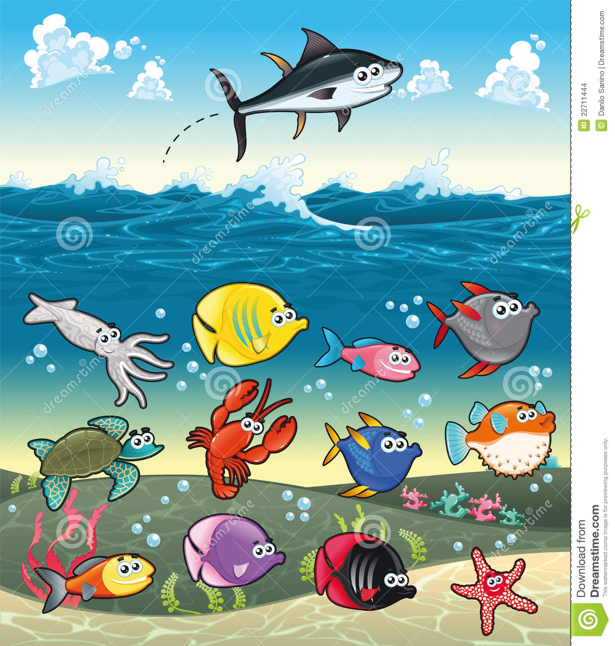 More Similar Stock Images Of   Family Of Funny Fish Under The Sea