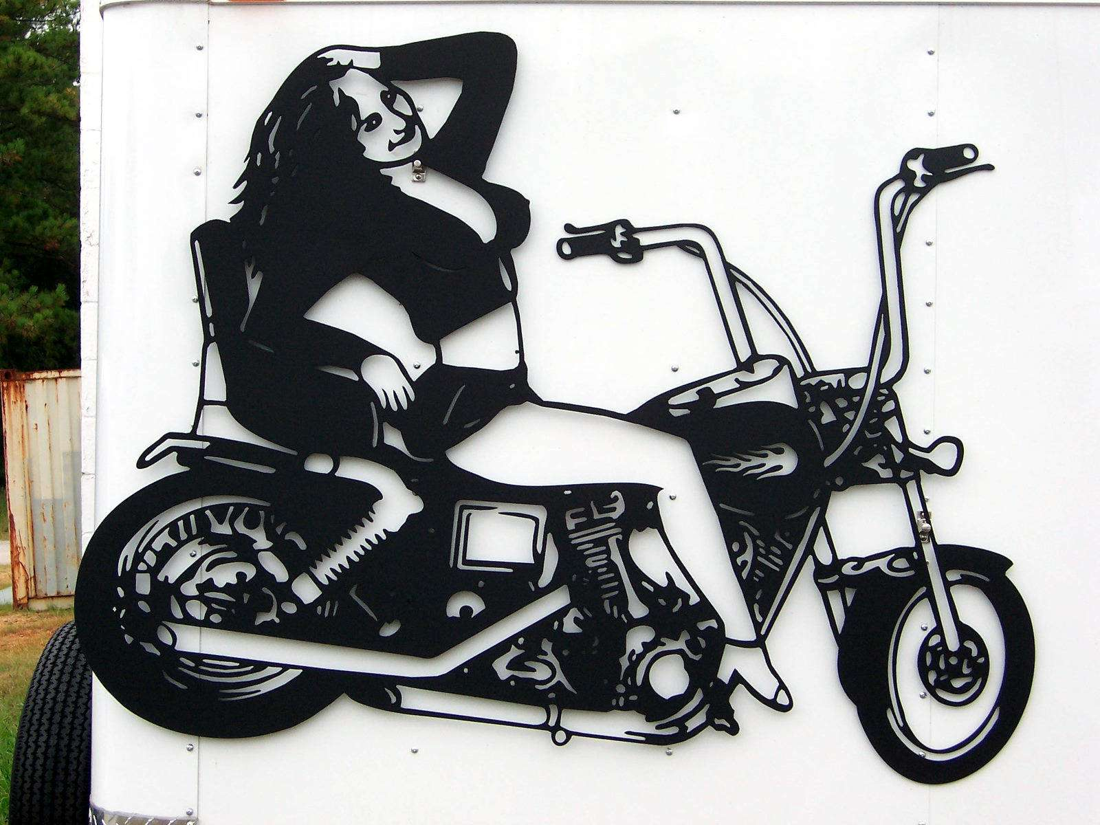 Motorcycle Babe   Signtorch Turning Images Into Vector Cut Paths