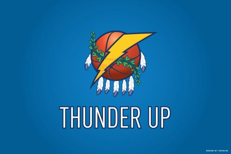 Oklahoma City Thunder Basketball Clip Art