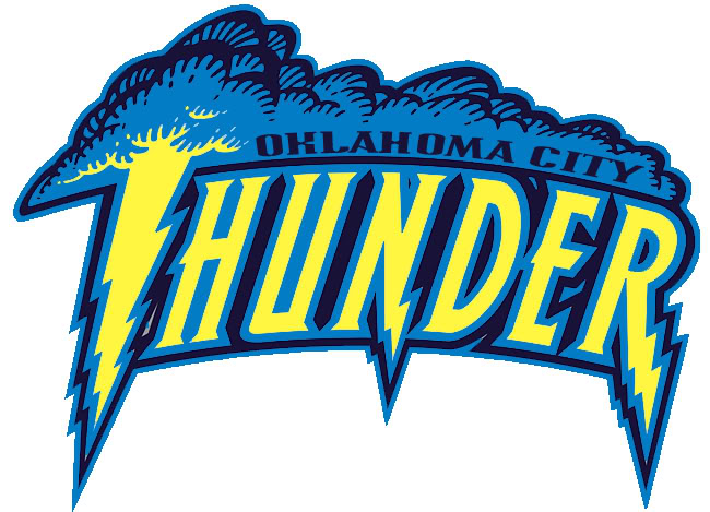 Oklahoma Thunder Basketball Clip Art