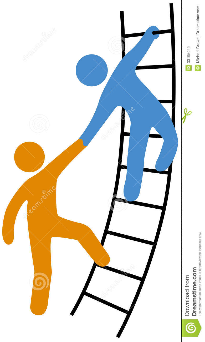 People Helping Join Up Ladder Royalty Free Stock Images   Image