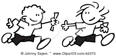 Relay Race Clipart Clipart Kid