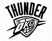 Thunder Logo Dxf Svg Vector Decal Vinyl Paper Cut Cutting Basketball
