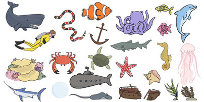 Under The Sea Clip Art Images   Animals Under The Sea Sea