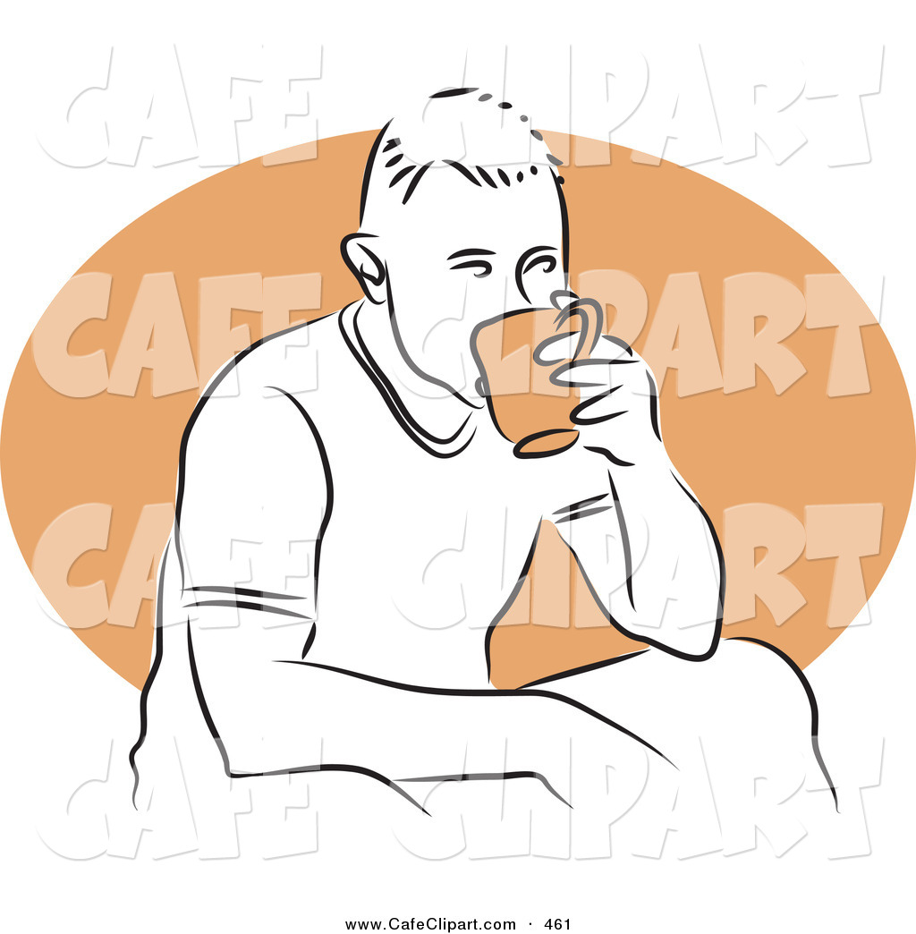 Vector Clip Art Of A Relaxing Man Sipping A Warm Cup Of Tea By Prawny