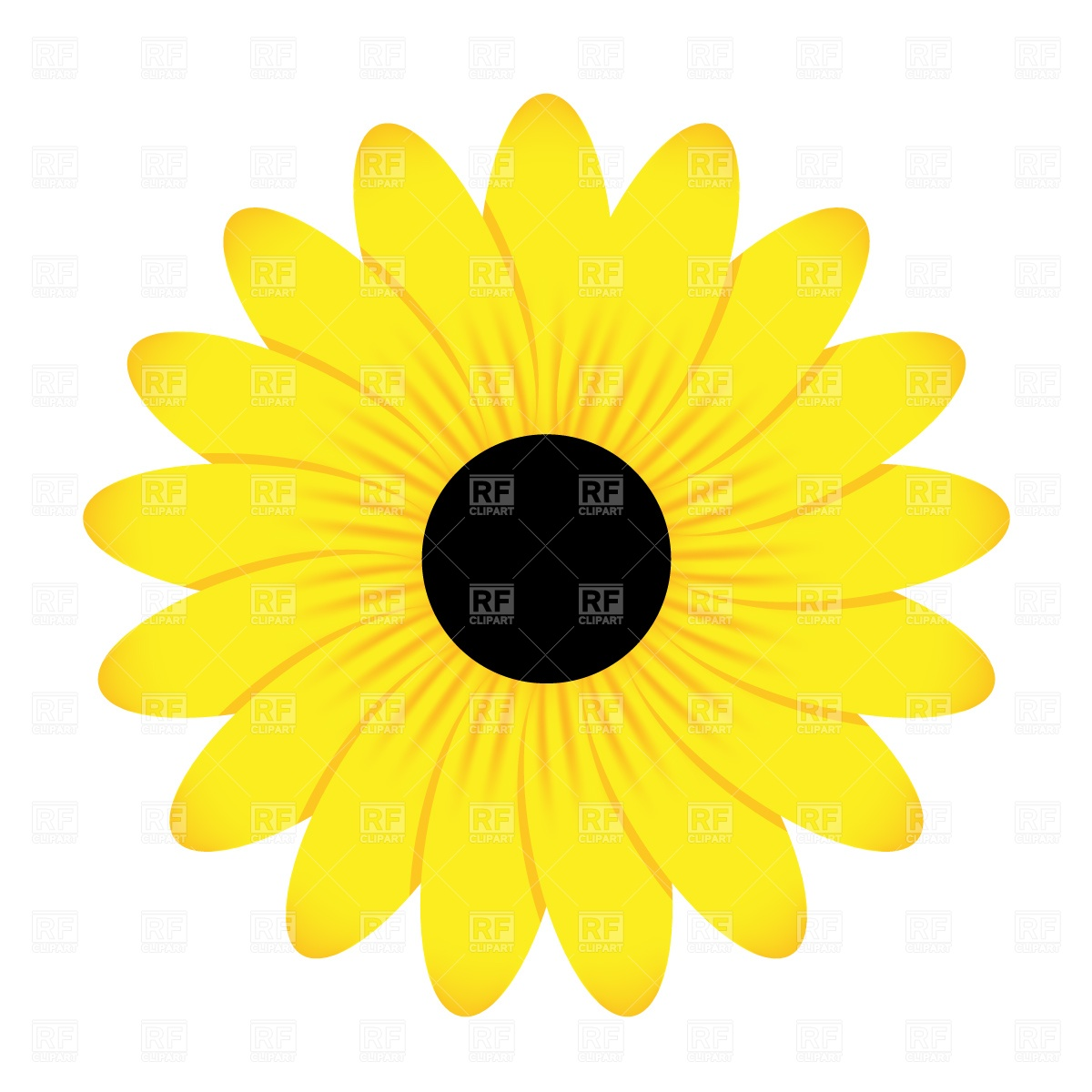 Yellow Flower 1304 Plants And Animals Download Free Vector Clip Art