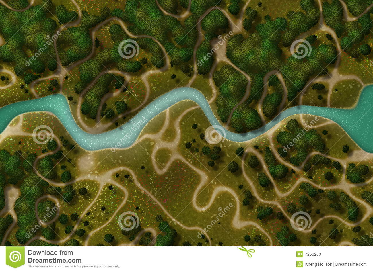 Bird S Eye View Of A Biking Hiking Trail Stock Photos   Image  7250263