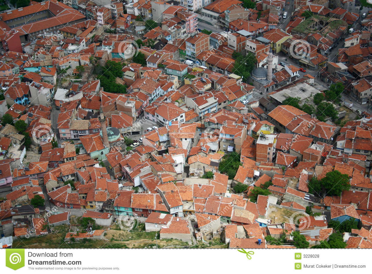 Birds Eye View City Royalty Free Stock Photos   Image  3228028