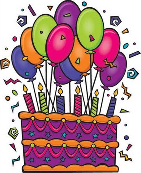 Birthday Cake And Balloons Clipart - Clipart Kid