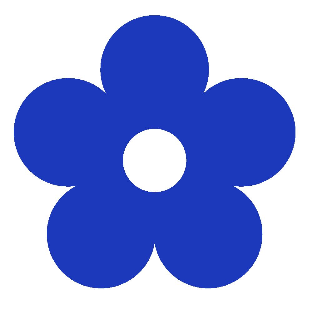 Blue Flower Design Clipart Kid